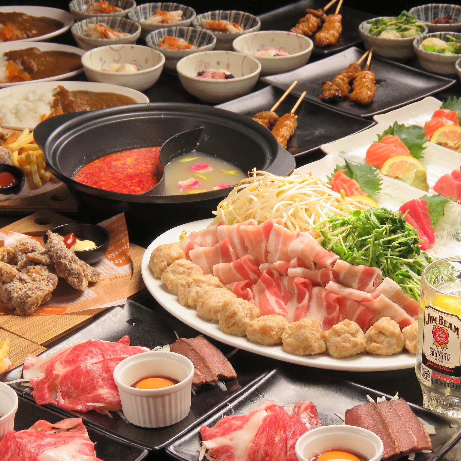 ミ)コラボ鍋コース+刺身・肉刺(5000円)201112~