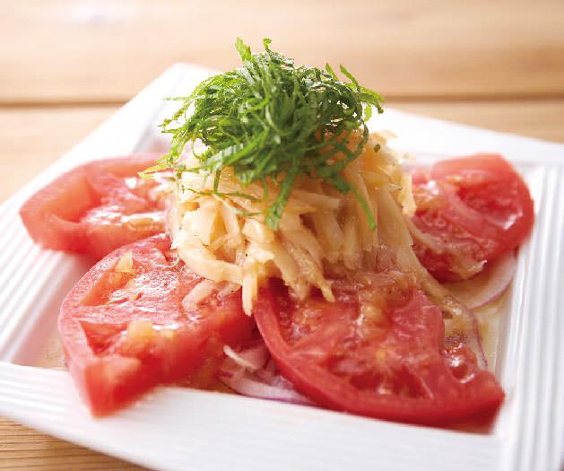 特製生姜ソースのガリトマト399円