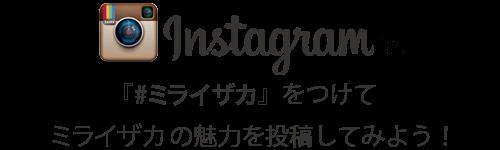 Instagramで、『#ミライザカ』をつけてミライザカの魅力を投稿してみよう!