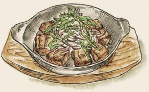 牛サイコロステーキ~野菜ステーキソース~