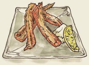 紅鮭ハラス焼き