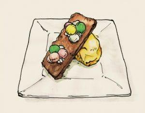濃厚ガトーショコラとプチバニラアイス