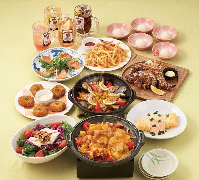 「ミライザカ」の味を存分に楽しめる「彩り味自慢コース」です!