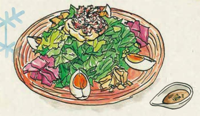 正月太りが気になる方に・・・「ミライザカ」のパワーサラダです!