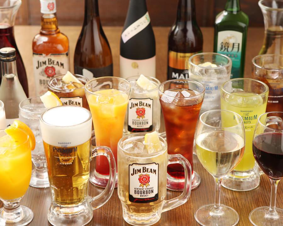 「ミライザカ」の宴会コースは、飲み放題がついて3,000円(税抜)から!